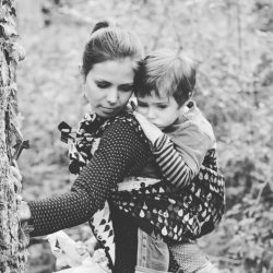 Koala and Mama Malta Babywearing Consultancy Hiking in the forest in a Woven Wings wrap