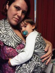 Koala and Mama Malta Babywearing Consultancy front cuddles in Oscha Raja zen ring sling