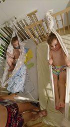 Koala and Mama Malta Babywearing hamocs made ofwoven wraps