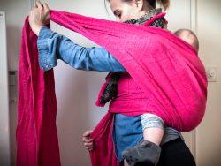 Koala and Mama Malta Babywearing woven wrap didymos back carry