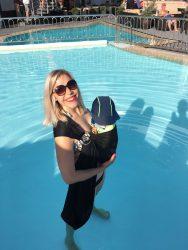 Koala and Mama Babywearing Malta water ring sling babywearing in the pool